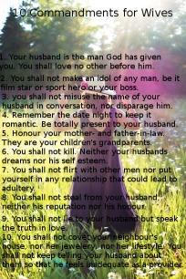 commandments for wives